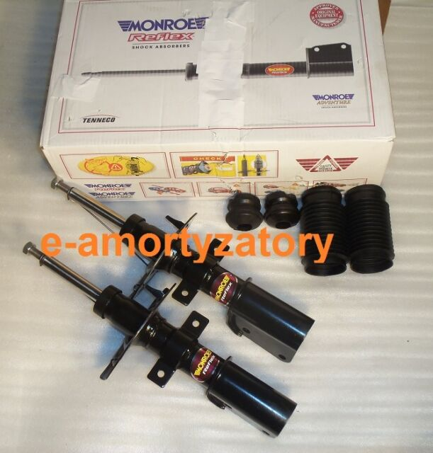 2x Front Shock Absorbers ESPACE IV 02- VEL SATIS + Protection Kit  MONROE E7075