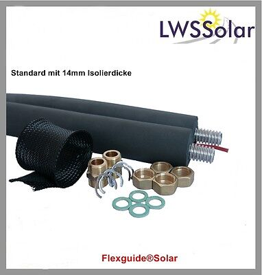Solarleitung Solarrohr Edelstahlwellrohr DN 20 - 15 m
