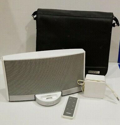 Bose Sounddock Portable Digital Music System Battery Charger Bag Remote N123  ()