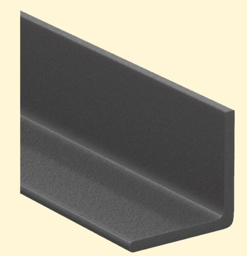 "Fiberglass Angle Stock 1/8"" Thick x 1"" Legs x 5 Ft Long 90° Dark Gray 60"" Length"