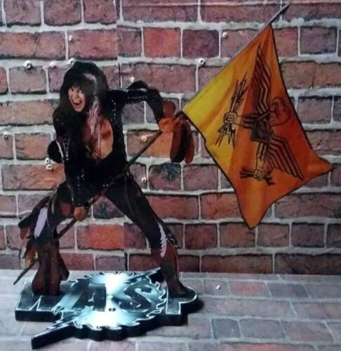 """BLACKIE LAWLESS WASP DISPLAY 8"""" STANDEE Figure Statue Cutout W.A.S.P. Standup cd"""