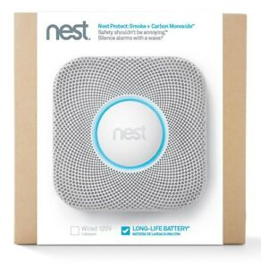 Nest Protect 2nd Gen Wi-Fi Smoke & CO2 Detector(Battery)