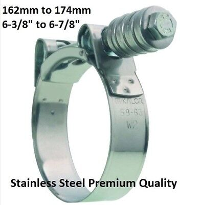 6 Suction Hose Trash Pump Stainless Steel Super Duty Clamp 6-38 6-12 6-78