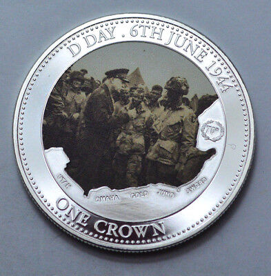Rare 2014 Canada One Crown D Day 6Th June 1944 70Th Ann  Tdc Mint Silver Plated