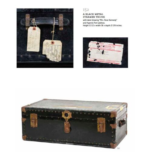 Rose Kennedy Steamer Trunk Winter White House Auction Palm Beach Leslie Hindman