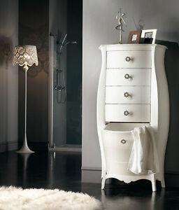 caricamento dellimmagine in corso mobile bagno cassettiera porta biancheria bianco laccato anche
