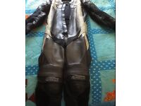 Leather one piece male bikers leather