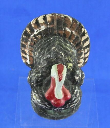 VINTAGE THANKSGIVING PAPER MACHE TURKEY CANDY CONTAINER NO CLOSURE