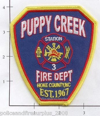 North Carolina - Puppy Creek NC Fire Dept Patch