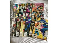 Collection of 13 Marvel Comics (early 90s)