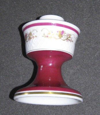 Unterteil für Tischlampe, Reichenbacher Porzellan, Goldrelief und Bordeauxfuß