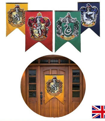 "Harry Potter Hogwarts House Wall Banners Set of 4 Flags 50"" x 30"" With 4 Colors"