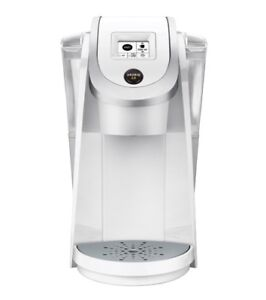 Cafetière + carafe stainless Keurig, K200 Plus, blanche