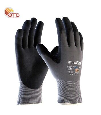 ATG Maxiflex Ultimate Gloves Palm Coated AdApt S-XL 6 Pair Pack 42874 breathable