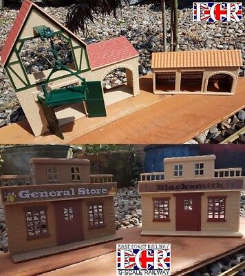 G SCALE WAREHOUSE, HOIST, STORAGE BARNS, STORE, BLACKSMITH BUILDING 1:32 SCALE, used for sale  United Kingdom