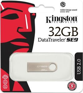 Kingston metal USB DT SE9 DTSE9H 32GB DTSE9 32G 32 Flash Pen Drive DataTraveler