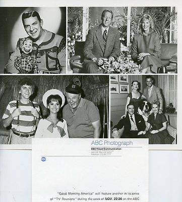 GILLIGAN'S ISLAND TOPPER HOWDY DOODY CASTS GOOD MORNING AMERICA '82 ABC TV PHOTO
