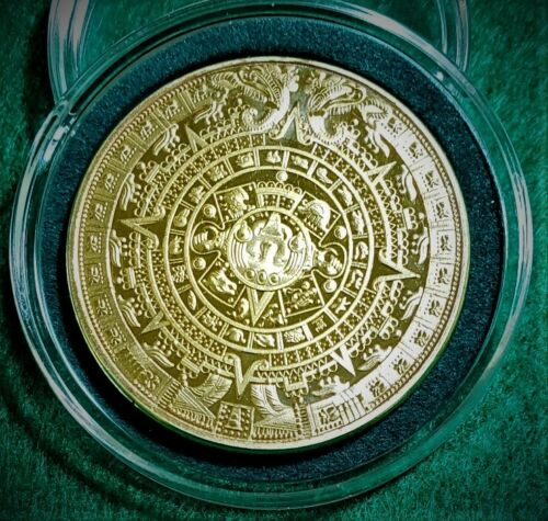 """Aztec"" Annual Calendar on 1 oz Gold Colored Coin in Decor Capsule"