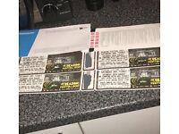 Saturday day festival tickets £160 each