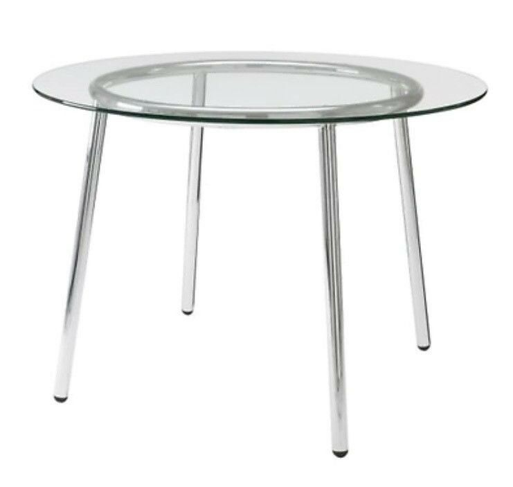 Glass Top Round Dining Table Ikea Salmi In Swinton Manchester