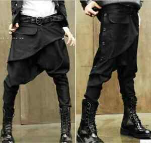 fashion korean personality harem men new hairstylist low crotch pants feet pants ebay. Black Bedroom Furniture Sets. Home Design Ideas