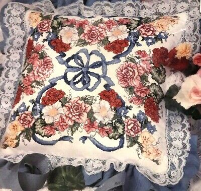 SEALED SOMETHING SPECIAL 50720 COUNTED CROSS STITCH FLORAL GARLAND PILLOW KIT Counted Cross Stitch Pillow