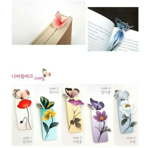 Butterfly Bookmark Cartoon Book Mark Paper Stationery School Supplies Gift