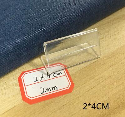 50pcs Price Tags Plastic Sign Name Label Card Holder Table Shelf Display Rack