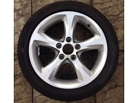 BMW 1 series 5 spoke 17 inch alloy wheel with good tyre