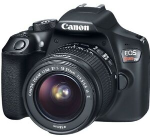 camera canon rebel T6 with 18-55mm and 75/300mm lenses kit