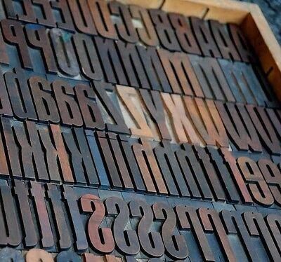 170 Art Deco Letterpress Wood Printing Blocks 2.83 Tall Printers Alphabet Type
