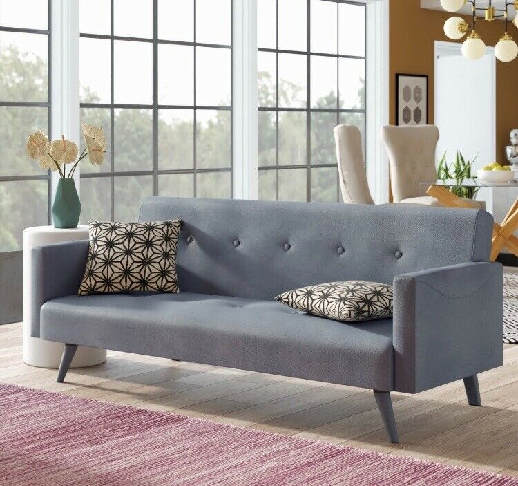 Grey 3 seater sofa bed   near new   in Coventry, West ...
