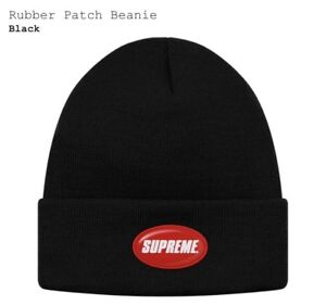 Supreme rubber patch beanie SS18