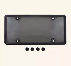 Tinted license plate covers