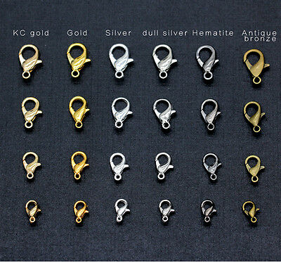 10/12/14/16mm alloy Lobster clasp Hook Jewelry craft for necklace&bracelet - Chain Clasp