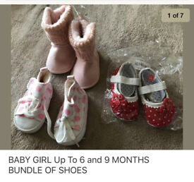 BABY GIRL SHOES SIZE 6-9 Months