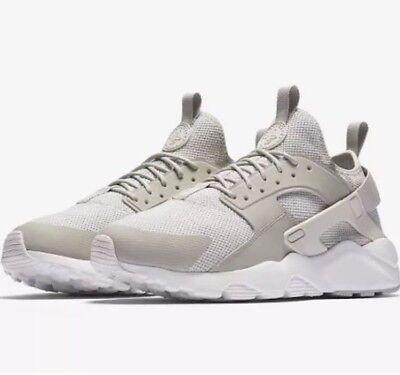 2d2a3cc0b9610 Nike Air Huarache Men Size 8 Run Ultra Breathe Shoes Pale Grey White 833147  002