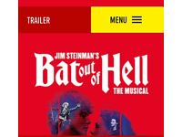 Bat out of Hell Tickets x2