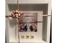 White Framed ' I Do' Wedding Picture