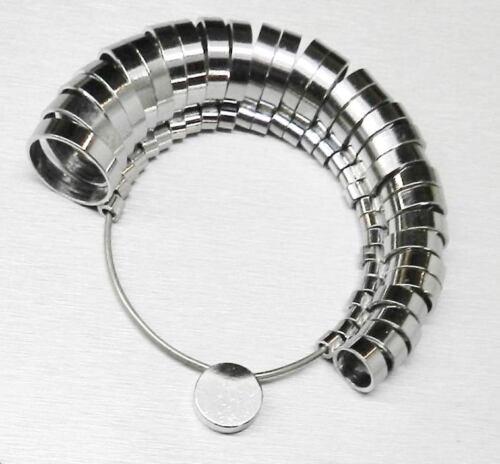 Metal Finger Gauge Set Ring Sizer Wide Band Graduated 1-15 Measuring Finger Size