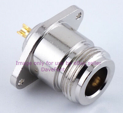 N Female Chassis Mount 2-Hole Connector  -  Sold by (Hole Chassis Mount)