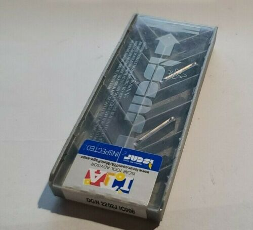 DGN 2202J IC908 ISCAR *** 10 INSERTS *** FACTORY PACK ***