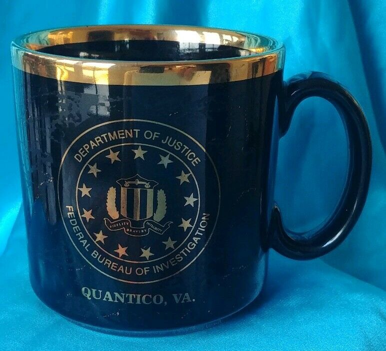 Dept. of Justice FBI Federal Bureau of Investigations Cup Mug Quantico, VA