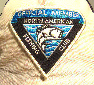 NORTH AMERICAN FISHING CLUB vtg trucker-cap Member beat-up hat w/ patch 1980s - Dead Fish Hat