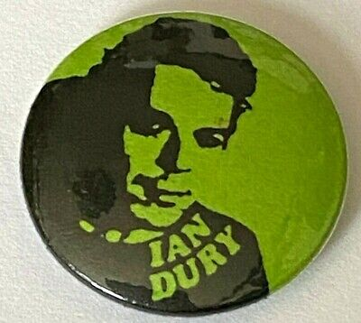 IAN DURY - Old Vtg 70/80's Button Pin Badge 25mm Punk New Wave Blockheads for sale  Glasgow