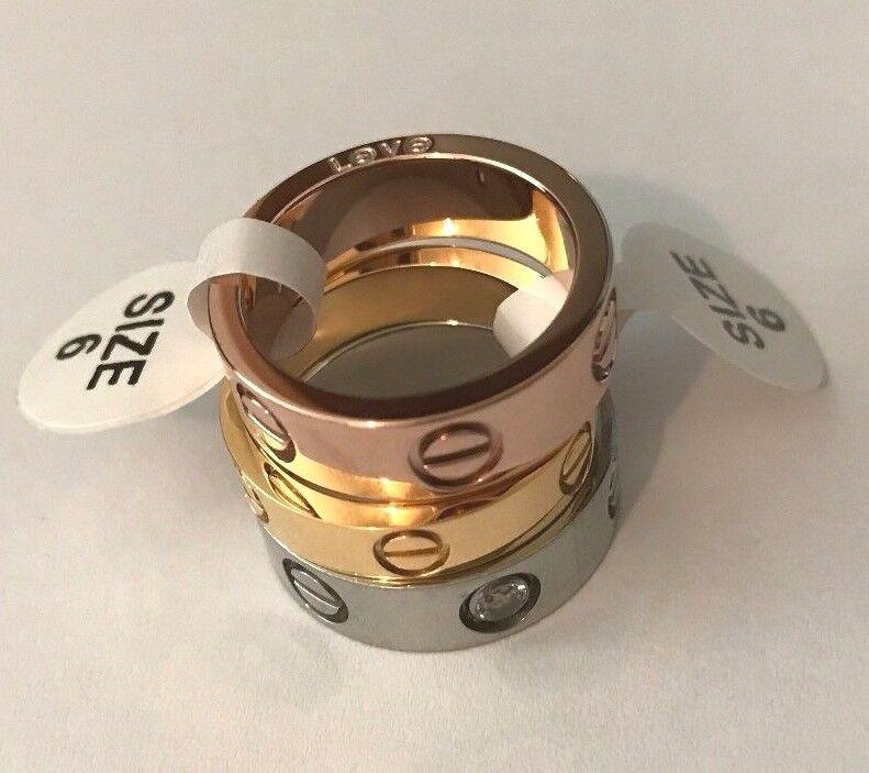 Bracelet - Unisex Men Women's Stainless Steel Fashion Love Rings Screw Screwdriver Ring
