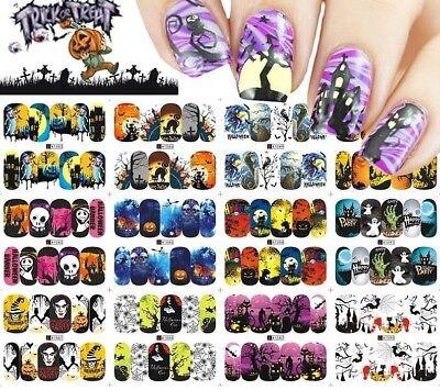 Nail Wraps Halloween, Wassersticker, Nageldesign, 12 Motive ()