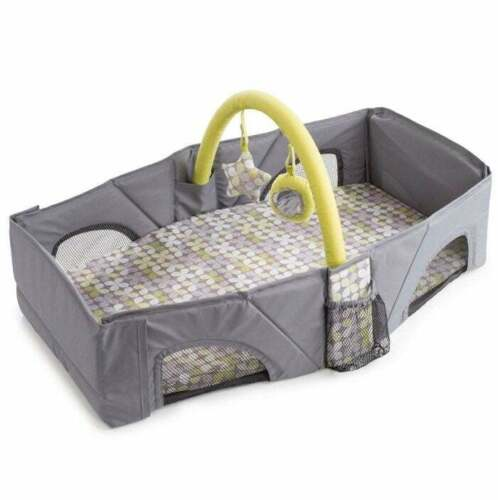 Summer Infant Infant Travel Bed - Gray & Green