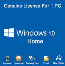 Windows 10 Home 32-64bit License Key Activation Download ...
