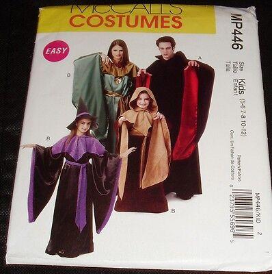 MP446 Boys Girls Vampire Druid Witch Robes Halloween Costumes 5-12 Sewing  (Druid Halloween Costume)
